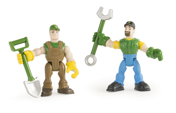 46504-SET - ERTL Toys John Deere Gear Force Figures and Tools