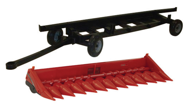 46622 - ERTL Toys Case 4412 Corn Head and Header Cart