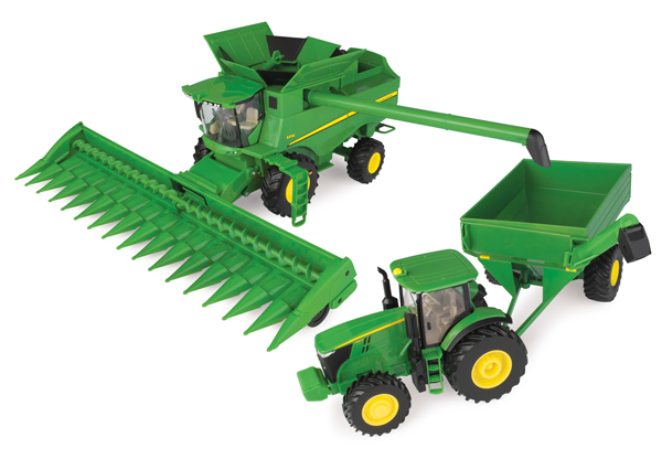 46677 - ERTL Toys John Deere Corn Harvesting Playset Big Farm