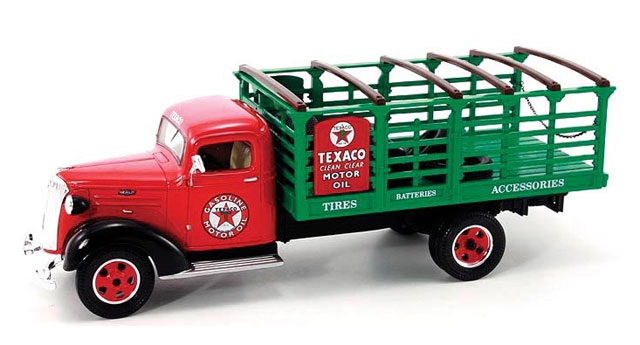 19-2599 - First Gear Texaco 1937 Chevy Stake Truck