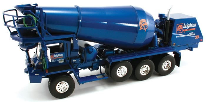 19-2868-X - First Gear Brighton Block Oshkosh Cement Mixer Truck