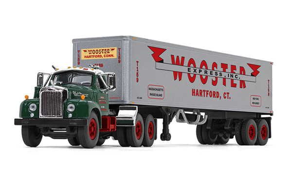 60-0410 - First Gear Replicas Wooster Express Mack B 61 Day Cab