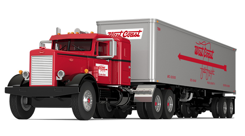 60-0491 - First Gear Replicas West Coast Fast Freight Peterbilt Model 351