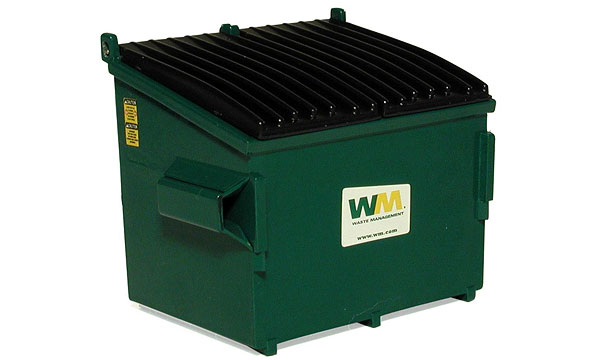 90-0169T - First Gear Replicas Waste Management Refuse Bin Compatible