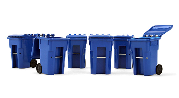 90-0518 - First Gear Set of 6 Trash Bins