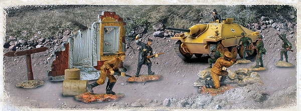 85054 - Forces Of Valor WWII German Hetzer and Soldiers Set