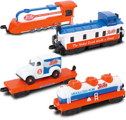 00292 - Gearbox Pepsi 4 Piece Train Set engine