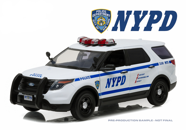 12973 - Greenlight NYPD 2015 Ford Police Interceptor Utility