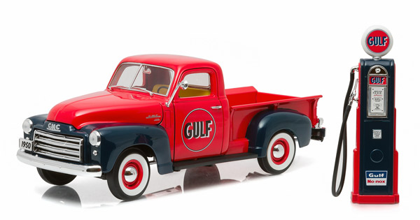12984 - Greenlight Gulf Oil 1950 GMC 150 Pickup