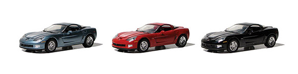 13026-SET - Greenlight Diecast Muscle Corvette Z06 Edition 3 piece set