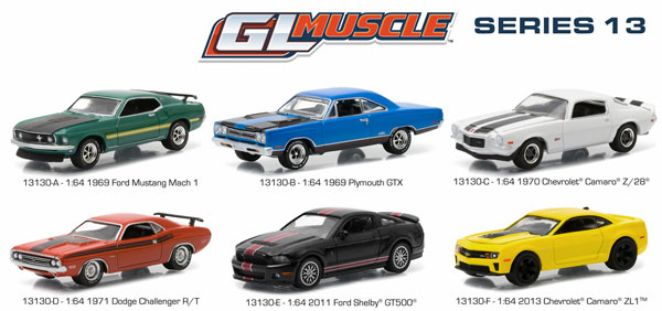 13130-CASE - Greenlight GL Muscle Series 13 Six Piece