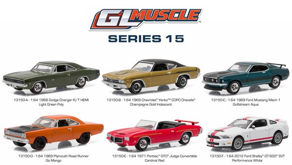 13150-CASE - Greenlight GL Muscle Series 15 Six Piece