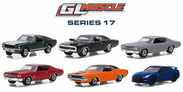 13170-CASE - Greenlight GL Muscle Series 17 Six Piece