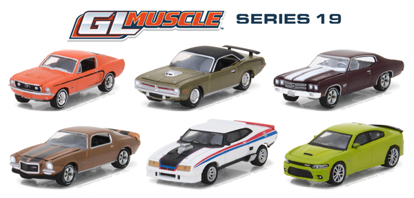 13190-CASE - Greenlight GL Muscle Series 19 6 Piece