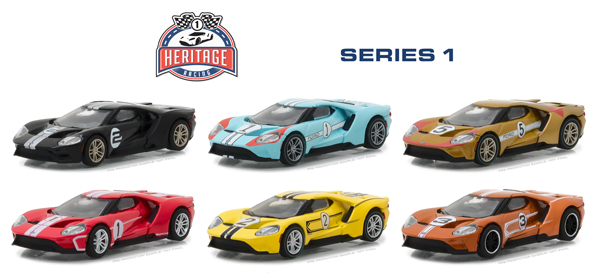 13200-CASE - Greenlight Ford GT Racing Heritage Series 1