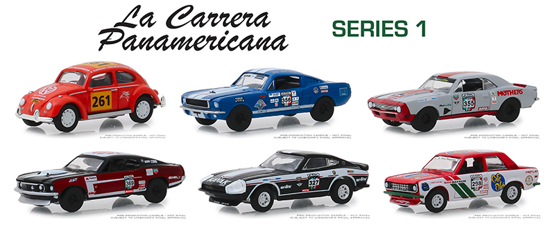 13240-CASE - Greenlight Diecast La Carrera Panamericana Series 1 6 Piece