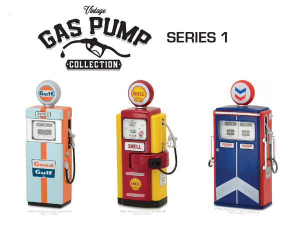 14010-SET - Greenlight Vintage Gas Pump Collection Series 1