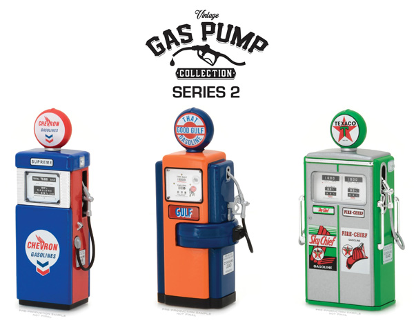 14020-CASE - Greenlight Vintage Gas Pump Collection Series 2
