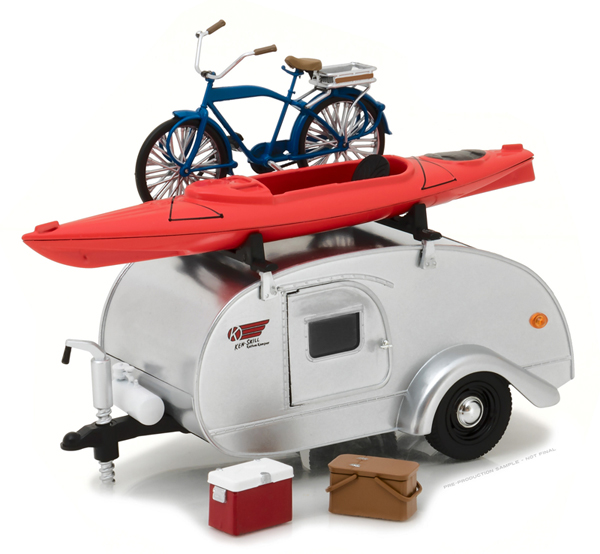 18420-A - Greenlight Diecast Ken Skill Kustom Kamper Teardrop Travel Trailer