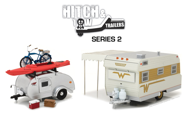 18420-CASE - Greenlight 1 24 Hitch and Tow Trailers