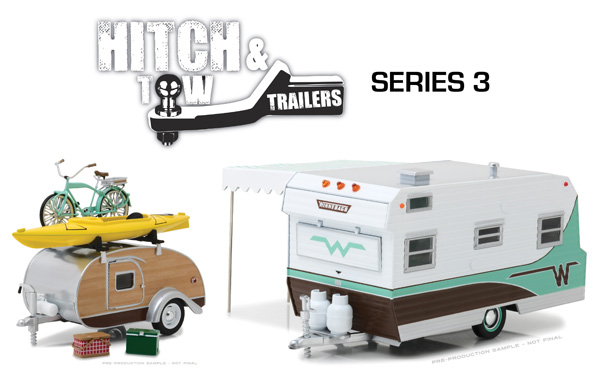 18430-CASE - Greenlight 1 24 Hitch and Tow Trailers