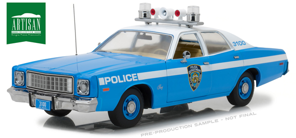 19043 - Greenlight Diecast New York Police Department 1975 Plymouth Fury