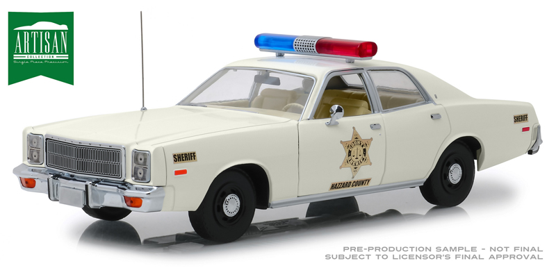 19055 - Greenlight Diecast Hazzard County Sheriff 1977 Plymouth Fury Authentic