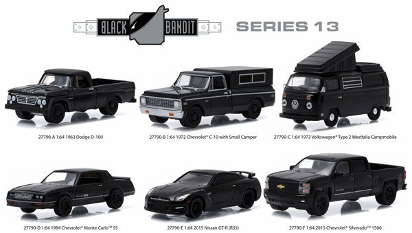 27790-CASE - Greenlight Black Bandit Series 13 Six Piece