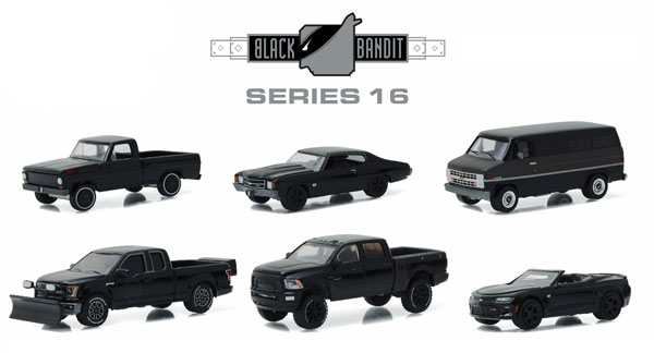 27880-CASE - Greenlight Black Bandit Series 16 Six Piece