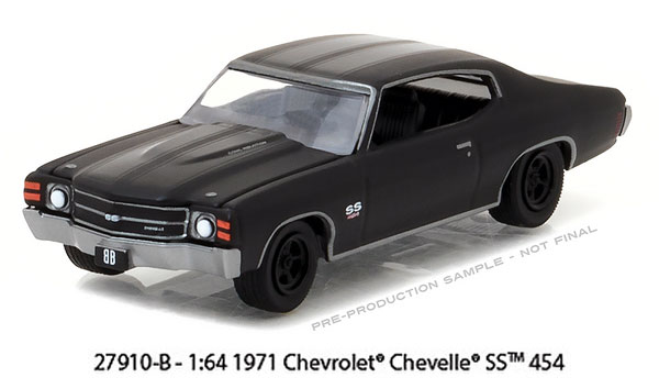 27910-B - Greenlight 1971 Chevrolet Chevelle SS 454 Black