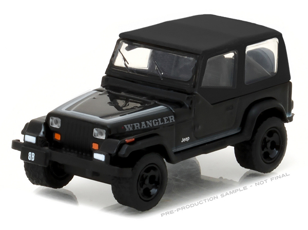 27910-D - Greenlight 1989 Jeep Wrangler Black Bandit Series