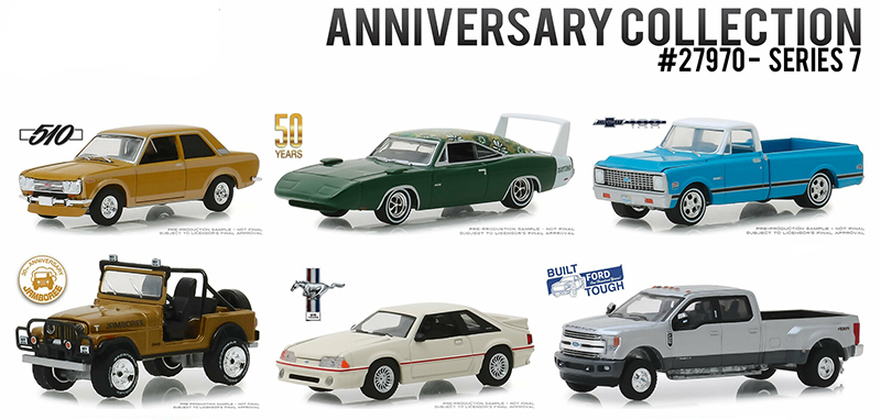 27970-CASE - Greenlight Diecast Anniversary Collection Series 7 Six Piece SET
