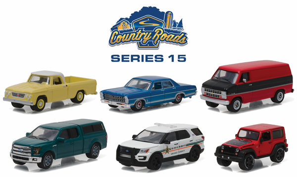 29850-CASE - Greenlight Country Roads Series 15 6 Piece
