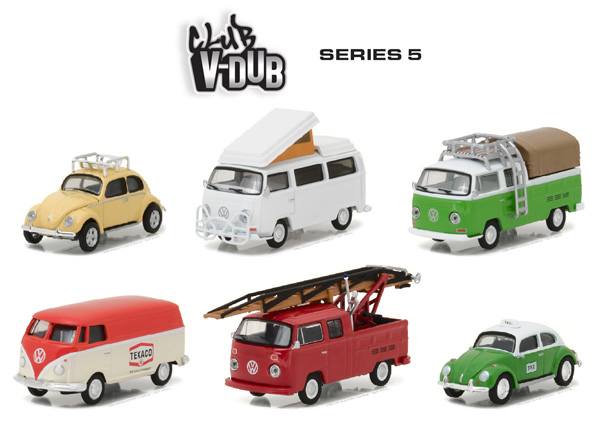 29870-CASE - Greenlight Diecast Club V Dub Series 5 6 Piece