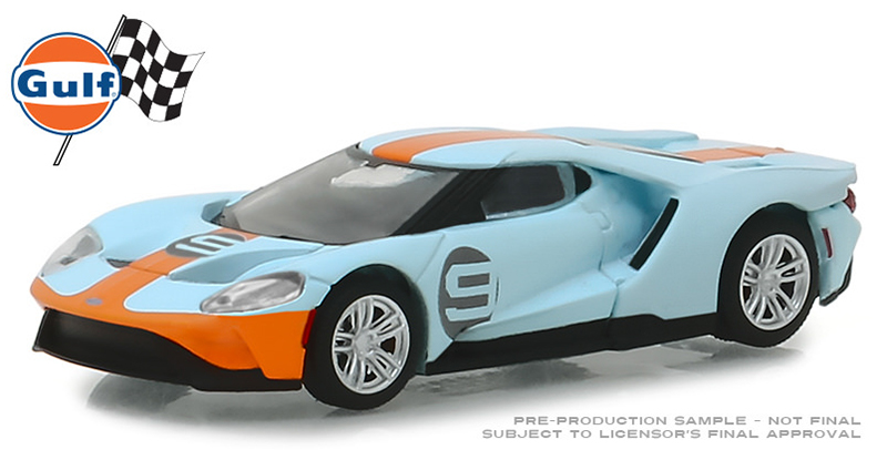 29909 - Greenlight Diecast Gulf Oil 2019 Ford GT 9 Gulf