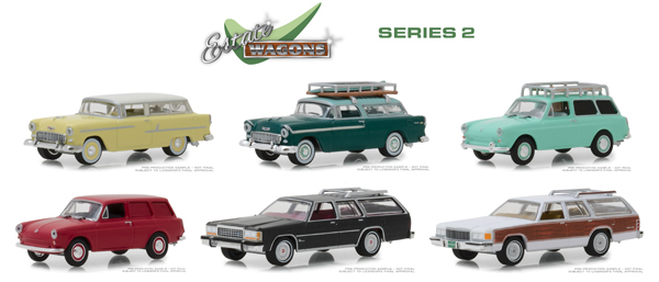 29930-CASE - Greenlight Diecast Estate Wagons Series 2 6 Piece Case