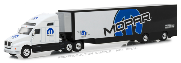 29963 - Greenlight Diecast 2018 Kenworth T2000 MOPAR Transporter Hobby Exclusive