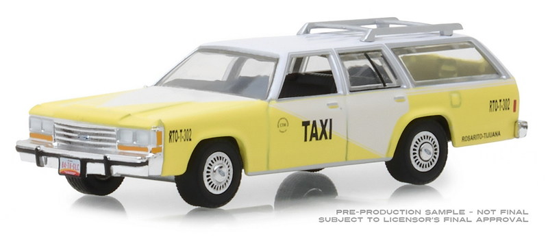 30002 - Greenlight Diecast Rosarito Beach Taxi 1988 Ford LTD Crown