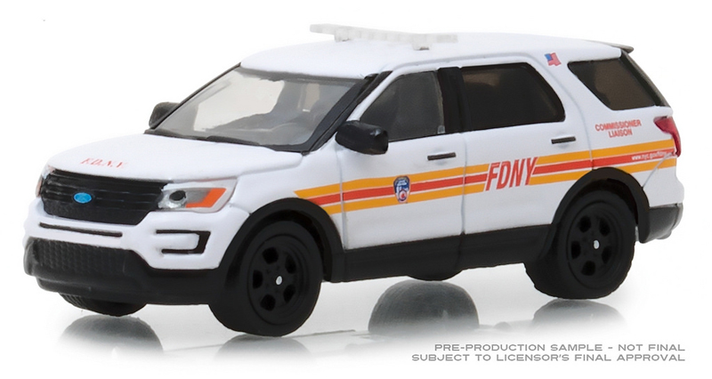 30012 - Greenlight Diecast FDNY Commissioner Liason 2017 Ford Interceptor Utility