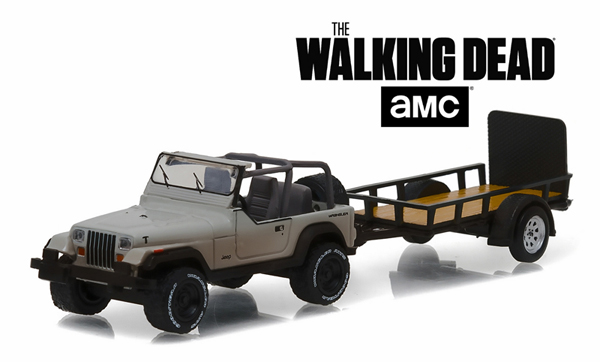 32080-B - Greenlight Diecast Michonnes Jeep Wrangler YJ and Utility Trailer