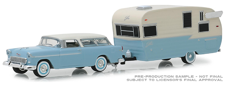 32160-A - Greenlight Diecast 1955 Chevrolet Nomad and Shasta Airflyte