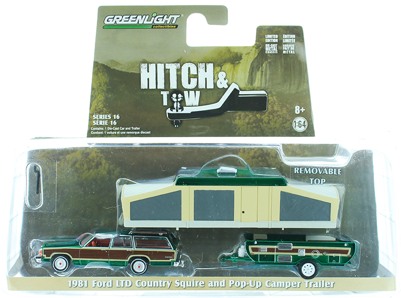 32160-C-SP - Greenlight Diecast 1981 Ford LTD Country Squire and Pop