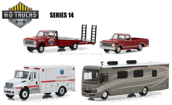 33140-CASE - Greenlight Diecast Heavy Duty Series 14 Six Piece Set