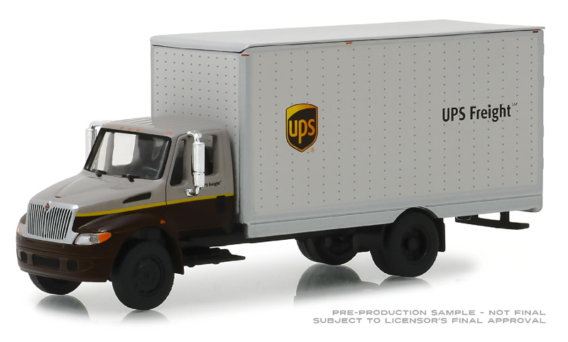 33150-B - Greenlight Diecast UPS Freight 2013 International Box Van Heavy