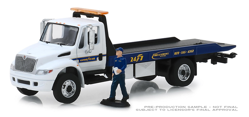 33160-C - Greenlight Diecast Goodyear Roadside Service 2013 International Durastar Flatbed