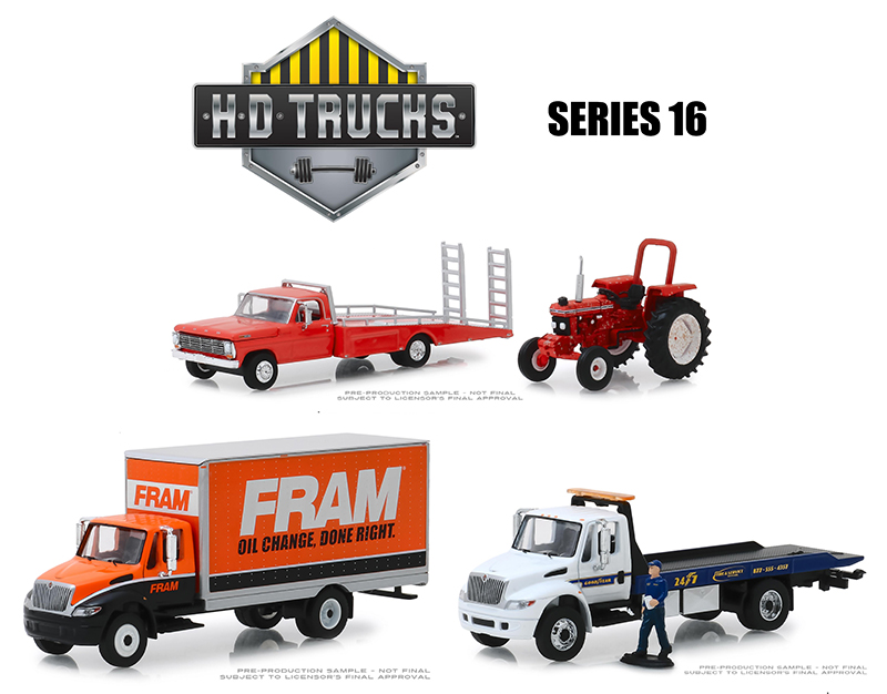 33160-CASE - Greenlight Diecast Heavy Duty Series 16 Six Piece Set