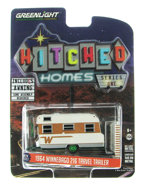 34010-C-SP - Greenlight 1964 Winnebago Travel Trailer 216