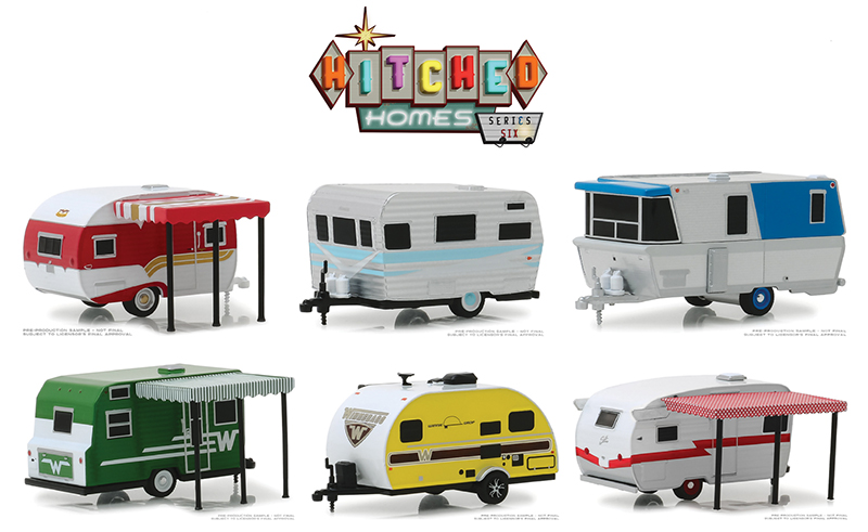 34060-CASE - Greenlight Diecast Hitched Homes Series 6 6 Piece SET