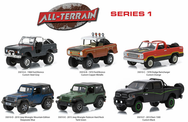 35010-CASE - Greenlight All Terrain Series 1 6 Piece