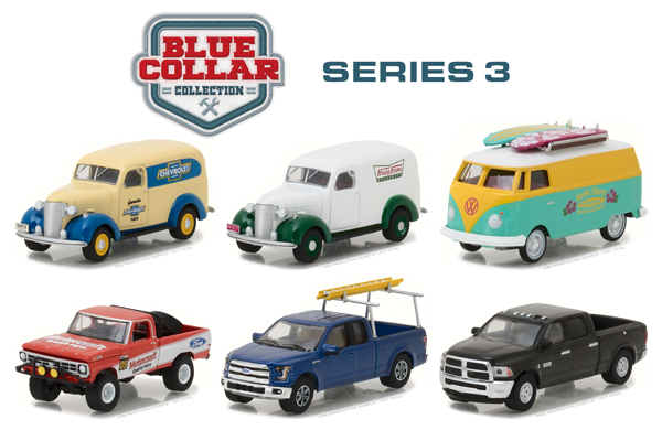 35080-MASTER - Greenlight Diecast Blue Collar Collection Series 3 48 Piece